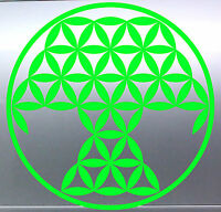 Geometrical Tree of Life Sacred Geometry vinyl cut sticker Australian made Plant