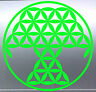 Geometrical Tree of Life Sacred Geometry vinyl cut sticker Australian made Plant