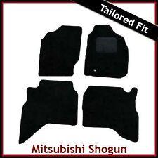 MITSUBISHI Shogun Sport mk1 1999 - 2008 montato su misura moquette Tappetini Auto Nero
