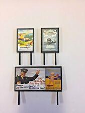4 Model Railway Billboards / Posters - Trackside Signs - OO Gauge - Pack 135