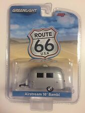 GREENLIGHT M&J Toys Exclusive Route 66 Silver AIRSTREAM 16' BAMBI Camper 1:64
