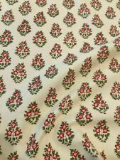 "Clarence House Fabric ""Oui"" French Red/Green Indienne Pierre Frey Msrp $219Y"