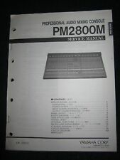 Yamaha Audio Mixing Console PM2800M Service Manual Schematics Part List PM-2800M