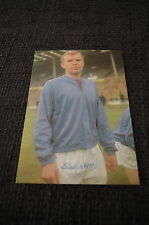 BOBBY MOORE signed 4x6 inch Autographcard RARE