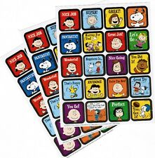 SNOOPY / Peanuts Adorable Reward Stickers!  3 Sheets  Linus Woodstock Lucy
