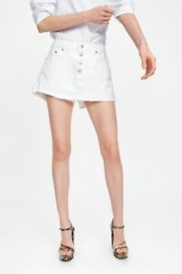cherrie424: Zara White Denim Skort / Shorts