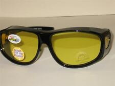 OVER GLASSES SUNGLASSES LARGE SIZE YELLOW NIGHT DRIVING LENS  UV 400