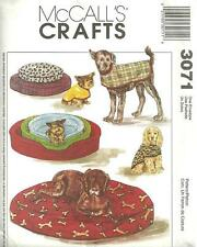 McCall's Crafts 3071 Pet Accessories  Coats & Beds Sewing Pattern