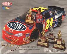 2002 Jeff Gordon Dupont Chevy Monte Carlo NASCAR postcard