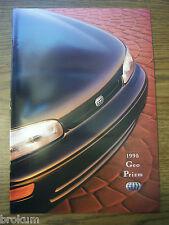 NEW 1995 GEO PRIZM 23 PAGE DEALER ORIGINAL SALES BROCHURE MINT (BOX 447)