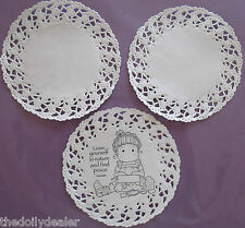 """IDEAL FOR TILDA /& HANGLAR CARDS /""""LOOPYLOO/"""" DINKY PAPER LACE DOILIES x 30"""