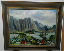 "Jeanne Lopes ""Kaneohe Bay"" HI,Original oil painting Signed by"