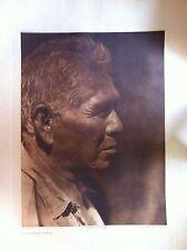 "Artist Edward Curtis Photogravure Unframed and Titled ""A Southern Miwok"""