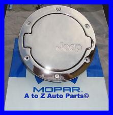 NEW 2007-2018 Jeep Wrangler JK 4 Dr CHROME Gas Door,Fuel Filler Door, OEM Mopar