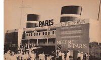 Postcard Century Progress 1933 Chicago IL Streets Paris France