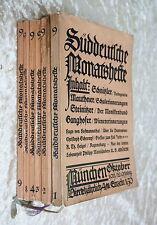 Süddeutsche Monatshefte - Cossmann Hrsg.-München IX.Jahrg.1911- Hefte 1-4,8+9