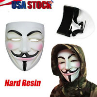 V for Vendetta Mask Unisex Adult Halloween Costume Guy Fawkes Anonymous Cosplay