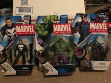 Hasbro Marvel Universe three figure lot new sealed Hulk Punisher Bucky 3.75