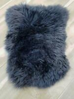 Gray Sheepskin Pet Bed Fur Chair Motorcycle Seat Cover Dog Cat Mat Delicate UK