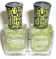 2 Sally Hansen Crackle Overcoat Nail Enamel Polish SAGE SMASH 11