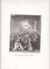 CRÉATION PAR LE ROI HENRI II Ordre du Saint-Esprit GRAVURE ANTIQUE PRINT 19 eme