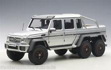 Mercedes-Benz G63 Amg 6X6 Silver 1:18 by Autoart 76301 Brand New Release In Box