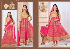 Designer Lehenga Choli cum Salwar Pink Color semi stiched Party Wear Material