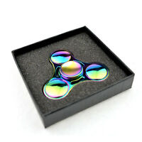 UFO Tri-Spinner Figet Spinners Hand Desk Rainbow Ceramic Focus Handmade Toy ADHD