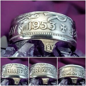 Coin Ring Size Z 1953 Halfcrown Coin Ring