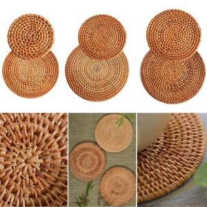 Rattan Untersetzer trinken Hot Pan Pot Set Matte gewebte natürliche Schüssel DIY