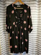 MADAME À PARIS Robe Dress Kleid Taille M 38-40 100% Soie Silk polka dots, pois
