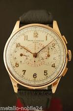 Baume et Mercier Jumbo 18 K Oro Cronografo Cal Landeron ORIG. Dial 40er anni
