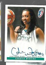 Candice Wiggins WNBA autograph card Rittenhouse