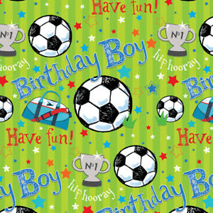 Birthday Football Wrapping Paper Present Wrap For Boy 1st 2nd 3rd 4th