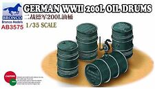 Bronco 1/35th Scale German WWII 200L Oil Drums Kit No. 03575
