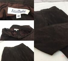 Ann Taylor Leather Pants Sz 10 Brown 100% Leather 28x28 Made In USA EUC YGI Y605