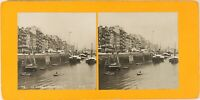 FRANCE Le Havre Grand Quai, Photo Stereo Vintage Argentique PL62L10