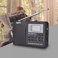 FM/AM/SW/LW/TV Sonido Frecuencia Completa Receptor Radio Portátil Despertador
