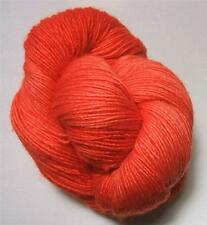 Araucania Nuble 107 Hand Dyed Extra Fine Merino Wool Silk Yarn Papaya Orange