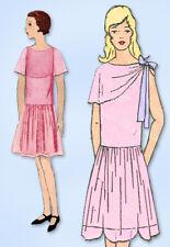 1920s Original Vintage Vogue Pattern 2764 Rare Teen Girls Flapper Dress Size 14