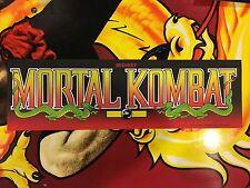 Mortal Kombat Arcade Marquee Midway MK1 Translight Header Sign Mylar Backlit