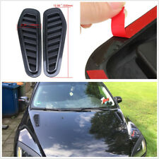 2XBlack Carbon Fiber Look Car Simulation Air Flow Intake Scoop Turbo Bonnet Vent