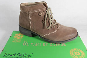 Seibel Boots, Ankle Boots, Lace up Boots Braun Padded 93052 New