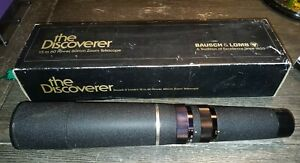 BAUSCH & LOMB'S 15 to 60 POWER 60MM ZOOM TELESCOPE THE DISCOVERER. MODEL#78-1600