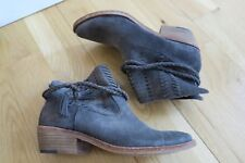 READ Dolce Vita Kade  Women Size 6 Gray Suede Ankle Bootie Shoes