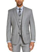 Michael Kors Men's Classic-Fit Airsoft Stretch Blue Grey Suit Jacket 40S