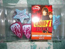 New Set of 12 Disney Camp Rock Shower Curtain Hooks with Stars
