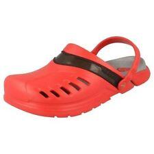 Sandali e scarpe Crocs rosso in gomma per il mare da donna