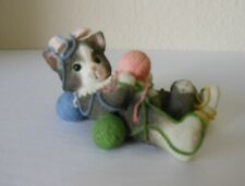 """Calico Kittens """"I'M All Wrapped Up Over You"""" Cat Balls of Yarn Enesco 1996"""