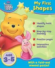Winnie the Pooh Learning First Shapes Book, age 3-5 with wall chart and Stickers